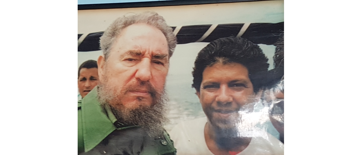 Pic of Fidel Castro and his translator