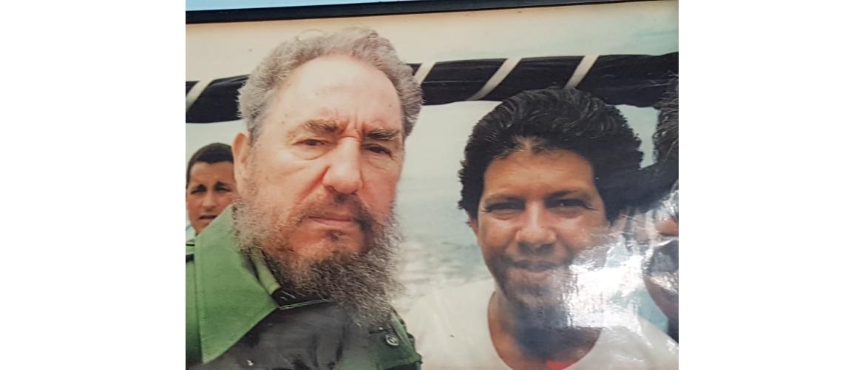 Pic of Fidel Castro and his translator